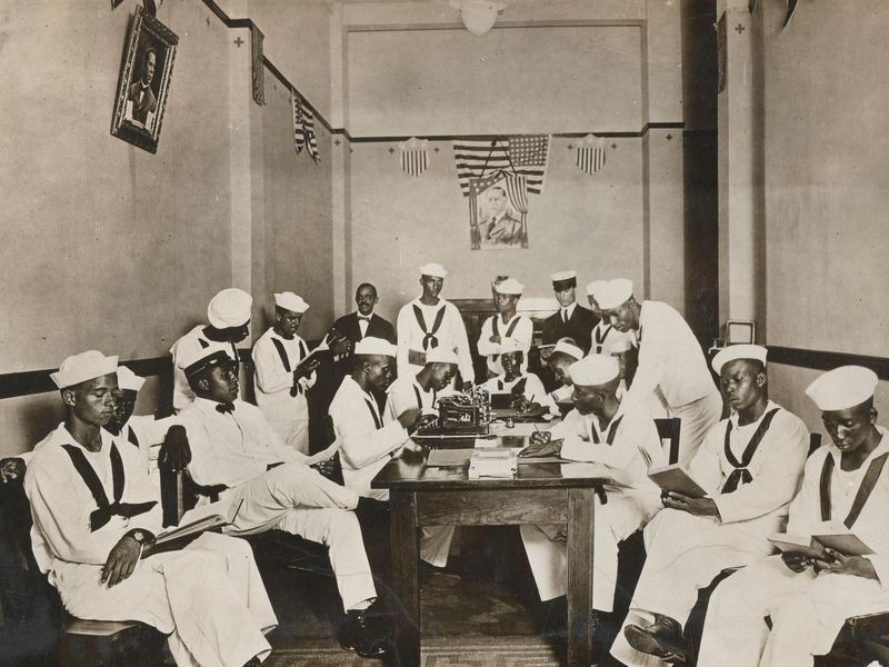 Sailors in Red Cross Rest Room during WWI