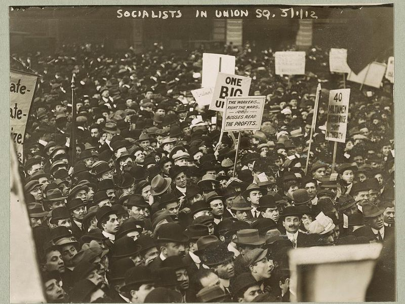 Socialists in Union Square, N.Y.C.