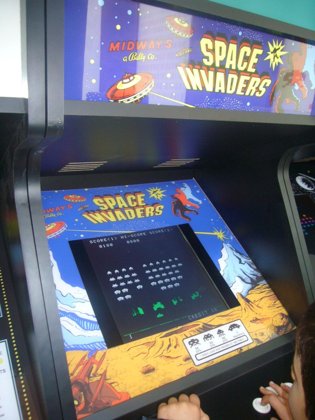 The iconic shooting game in its original stand-up arcade form.