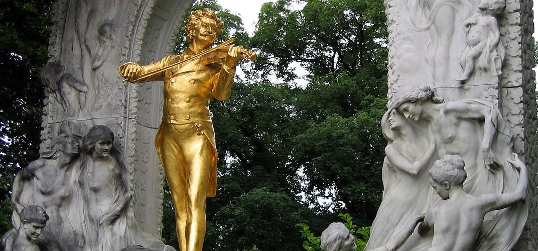 The Strauss Memorial in Vienna, a city renowned for music