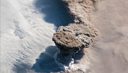 Astronauts Capture Stunning Image of Volcano Erupting for the First Time in 95 Years