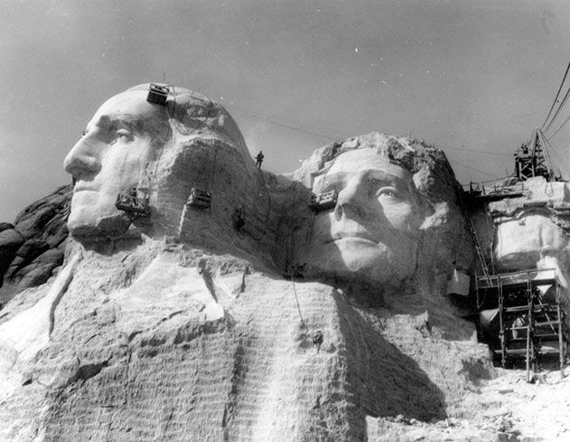 Mount Rushmore carving process