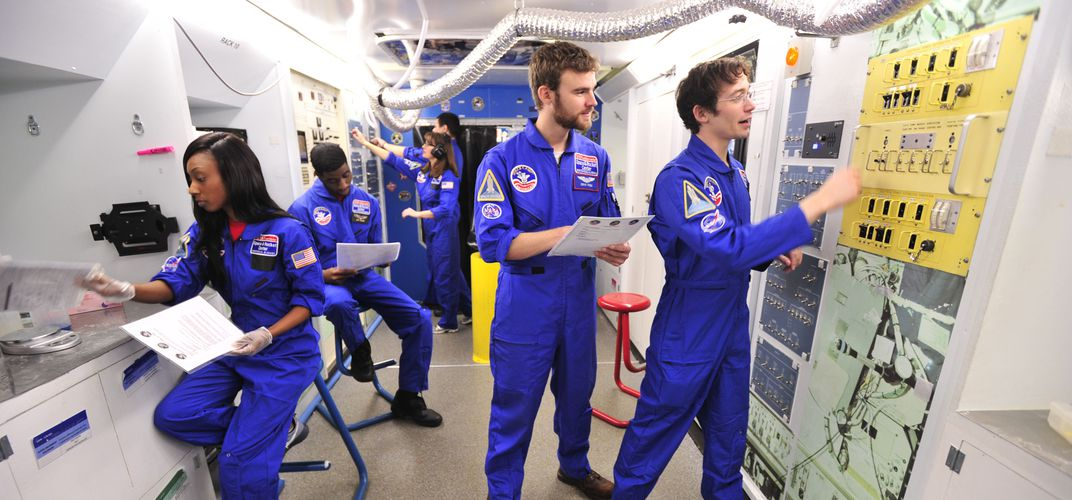 Take part in simulated space missions