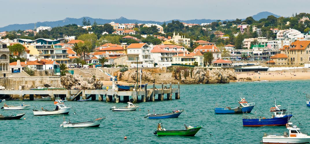 Fishing boats in the harbor at Cascais