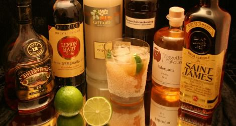 Falernum, a syrup that originates in Barbados, pairs nicely with rum.