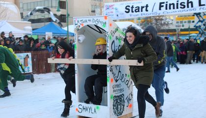 Inside the World's Largest Outhouse Race