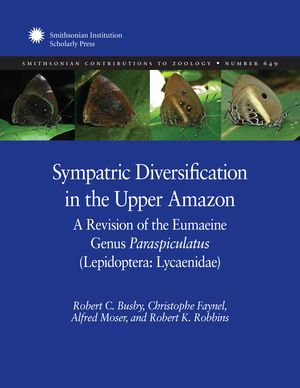 Sympatric Diversification in the Upper Amazon: A Revision of the Eumaeine Genus Paraspiculatus (Lepidoptera: Lycaenidae) photo