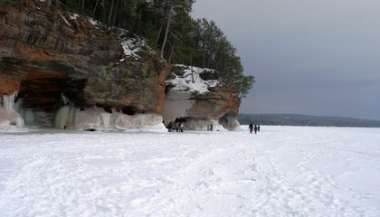 Apostle Island ice caves