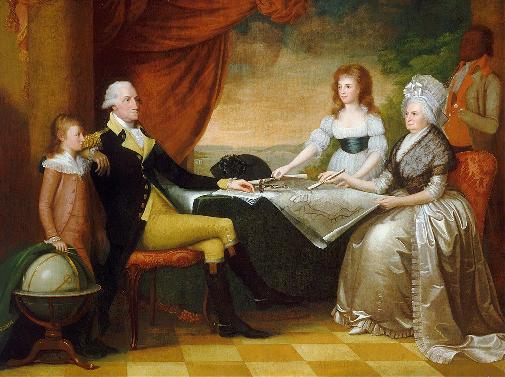 Savage portrait of George Washington and his family