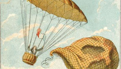 The First Parachute Jump