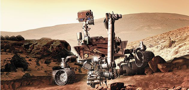 the rover Curiosity