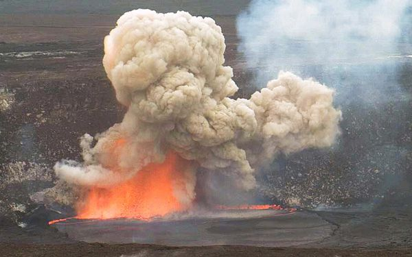 Lava lake explodes in Hawaii