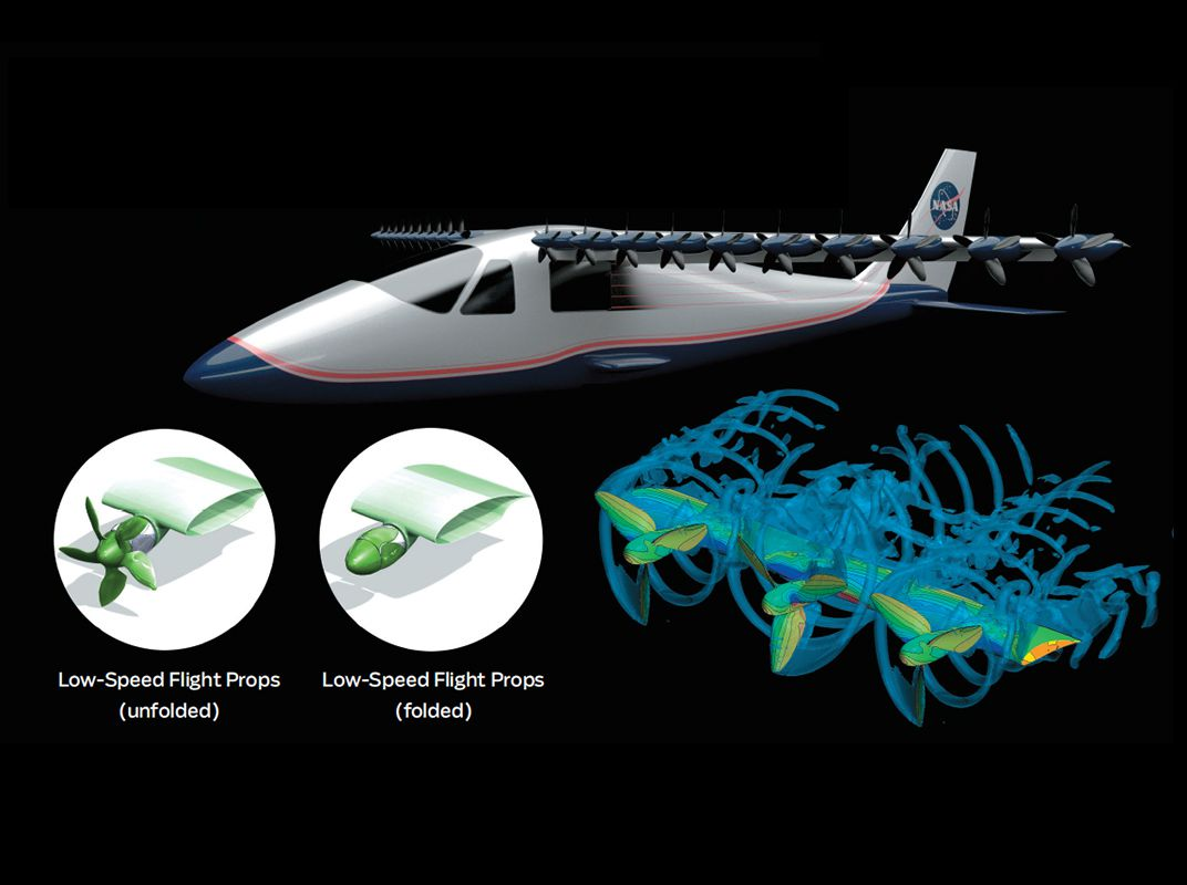 Electrical Power Will Change The Look Of Aviation Flight Today How A Propeller Works And Engineering Sceptor Use Dozen Low Speed Propellers Reduced From 18 Shown Here To Take Off Blowing Air Over Top Wing Add Extra Lift