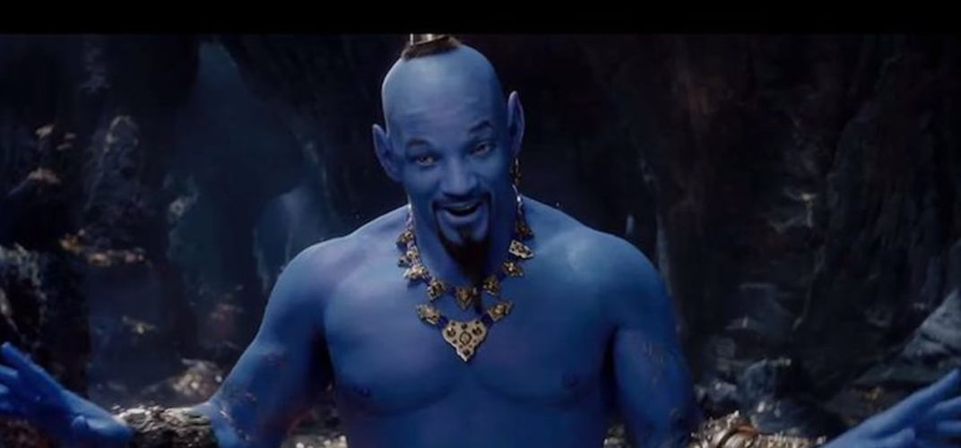 Caption: Why Is the Genie in 'Aladdin' Blue?