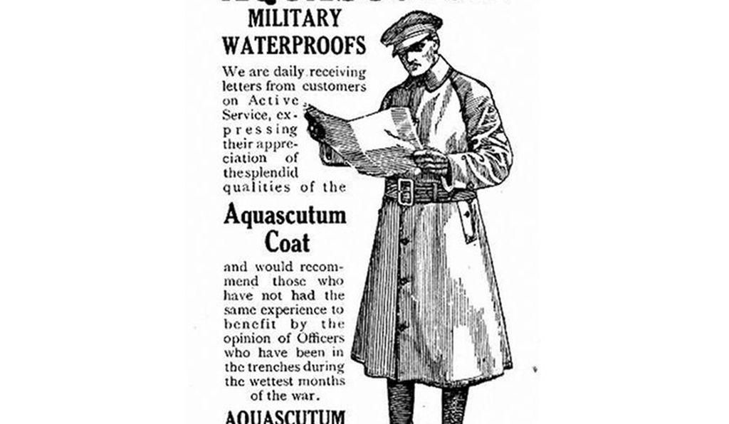 Burberry and Aquascutum both take credit for inventing the first trench coats.
