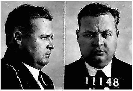"D.C. Stephenson's mug shot. From ""The Dragon and the Cross."""