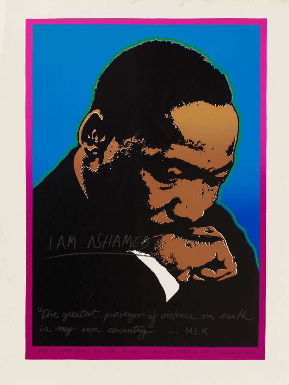 An artwork of MLK