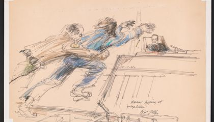 New Exhibit Highlights the Art of the Courtroom Sketch