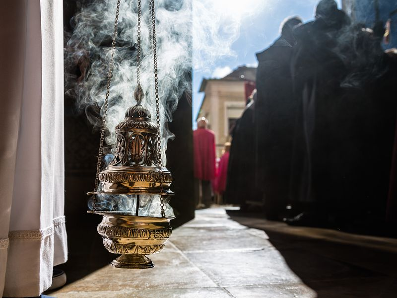 Incense During A Religious Event