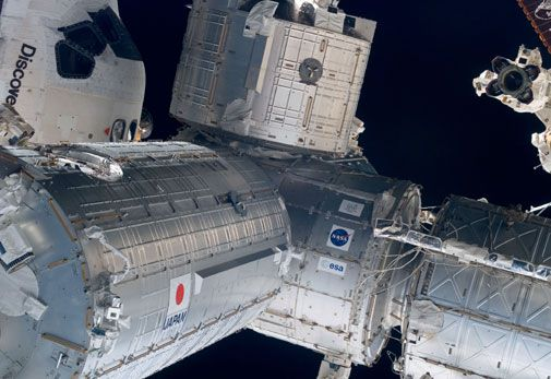 The space station's final pieces come together in orbit.