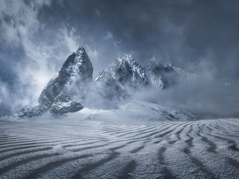 This is Yulong Snow Mountain in Yunna, China after a heavy snow storm.