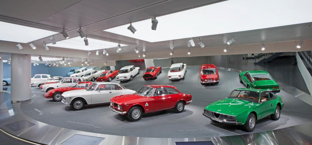 Display at the Alfa Romeo Museum. Credit: Alfa Romeo Museum