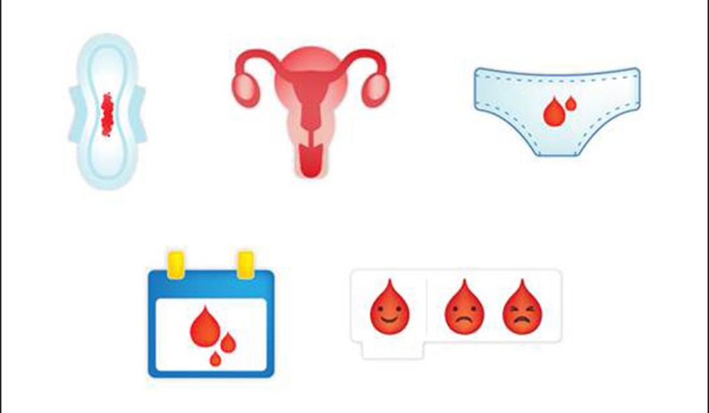 Plan International created five potential emojis and asked the public to vote for the winner. The winning design, the period panties on the upper right, was announced earlier this month.