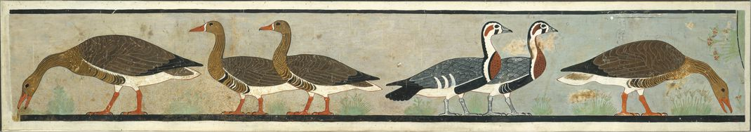 A facsimile of the full <em>Meidum Goose</em> painting