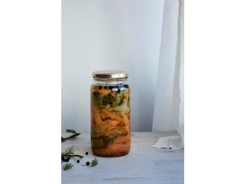 orange and green pickles
