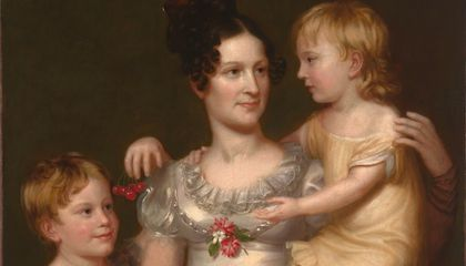 Sarah Weston Seaton with Her Children Augstine and Julia / Charles Bird King / c. 1815 / National Portrait Gallery, Smithsonian Institution / Bequest of Armida B. Colt