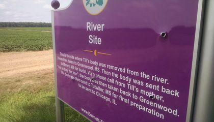 A Memorial Sign to Emmett Till Was Defaced With Four Bullet Holes