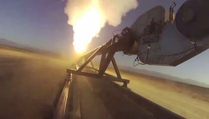 Watch Video of a NASA Rocket Sled Pulling a Giant Parachute