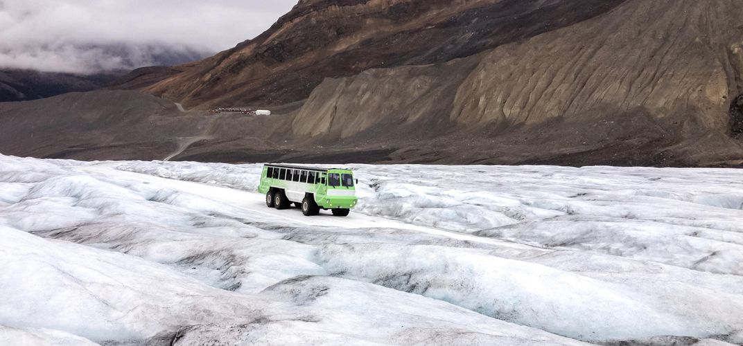 Ice coach tour of Athabasca Glacier, Banff National Park