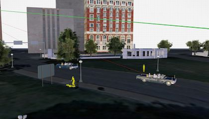 An Interactive 3D Model of the JFK Assassination Site, Grassy Knoll and All