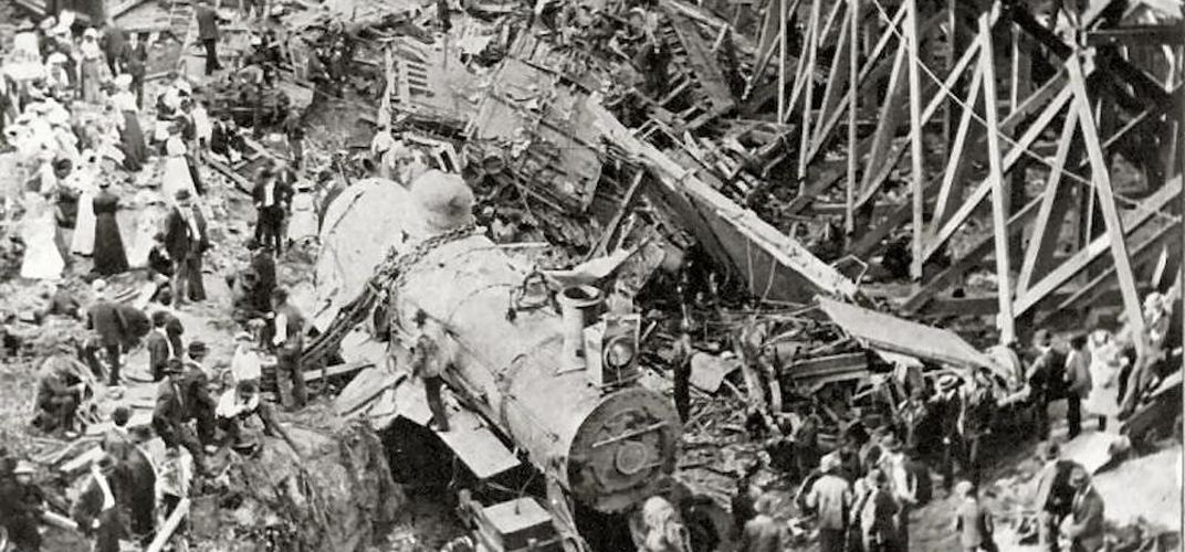 Caption: The Hammond Train Wreck Disaster of 1918