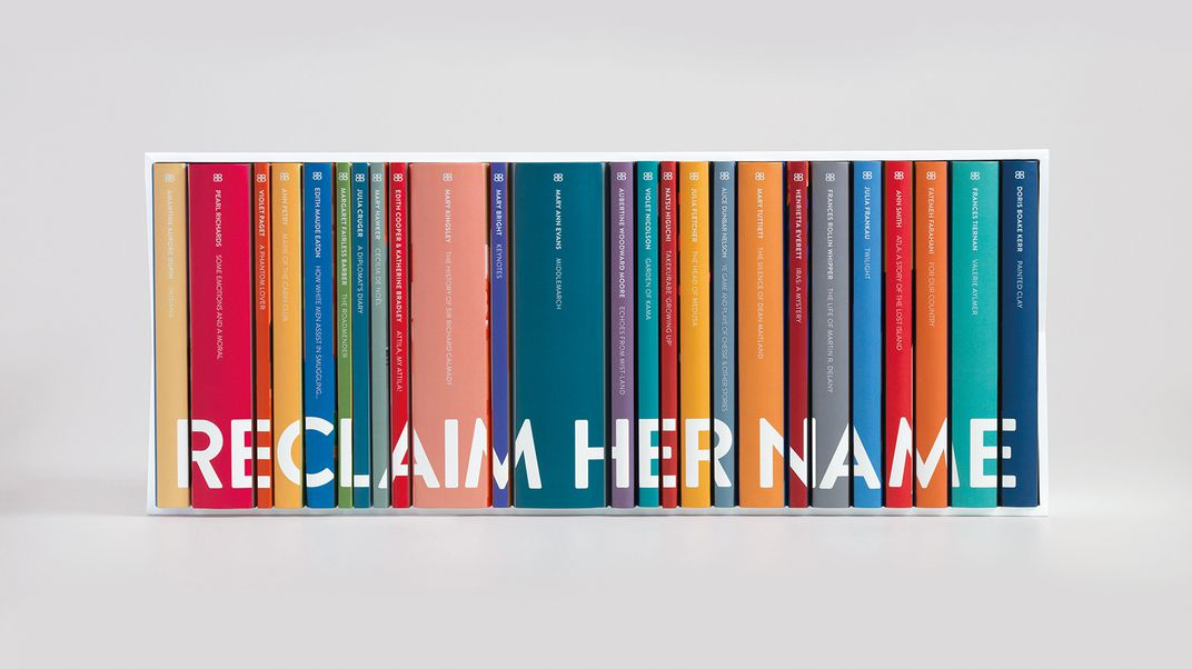 Reclaim Her Name book spines