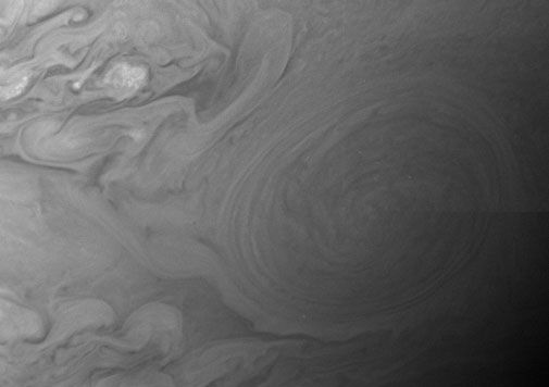 A close-up of Jupiter from a Pluto-bound spacecraft.