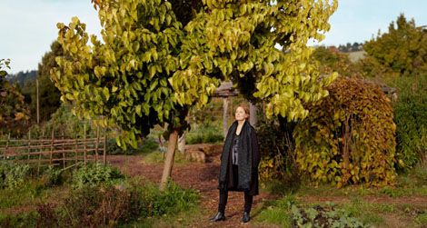 See Alice Waters and her new portrait side-by-side on Friday.