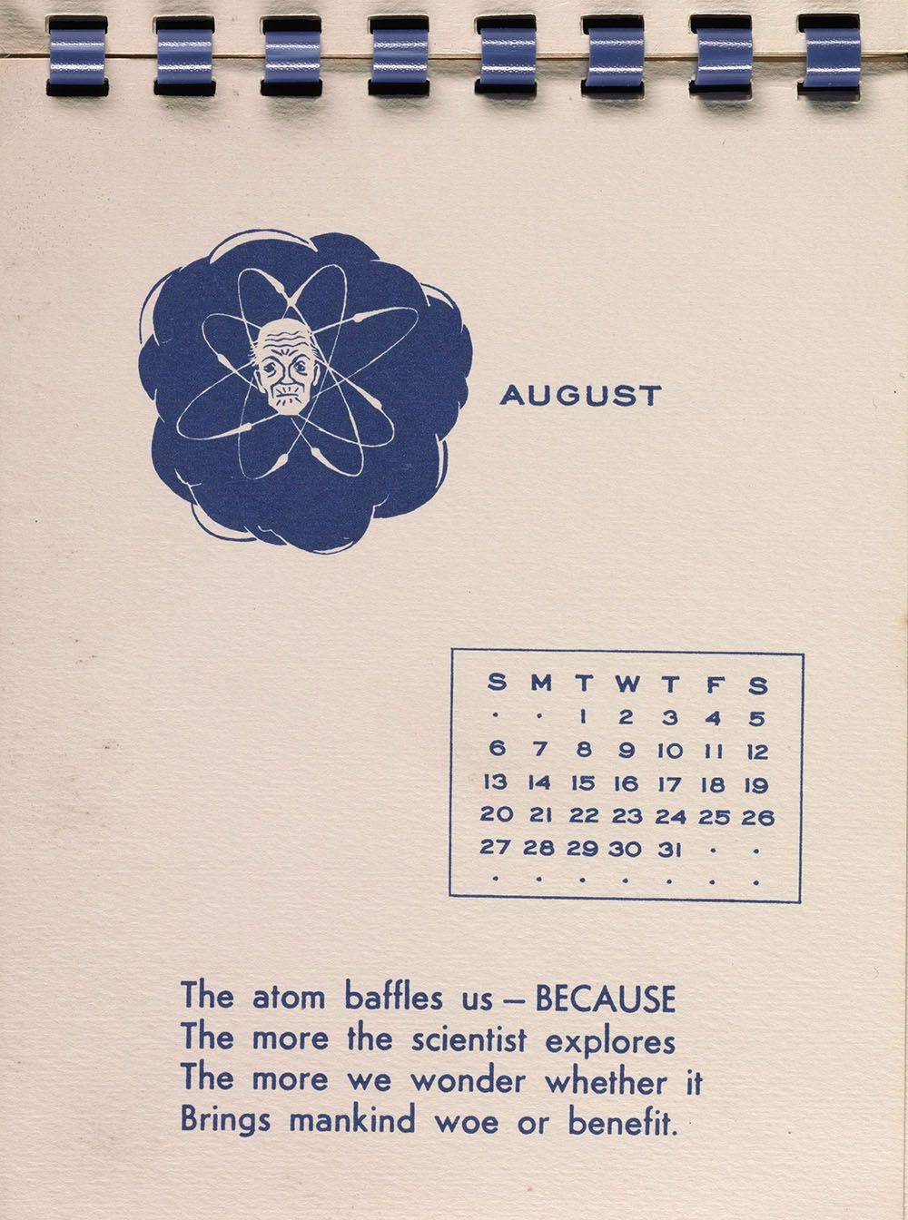 August 1950 page from William Adams Delano holiday card