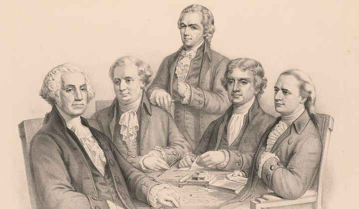 Washington and his Cabinet lithograph