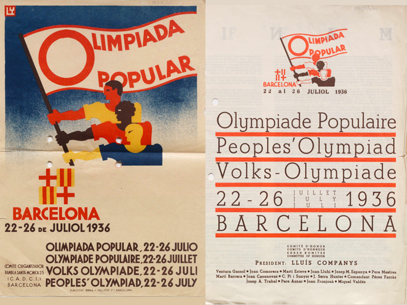 Posters advertising the People's Olympiad