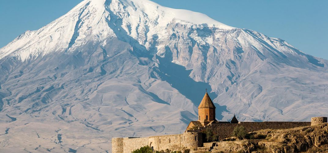 Khor Virap Monastery against the Arat Mountains, Armenia