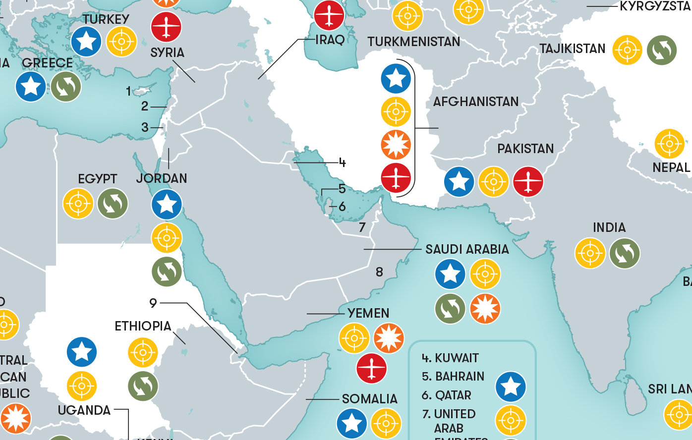 This Map Shows Where In The World The Us Military Is Combatting - Map-of-all-army-bases-in-the-us