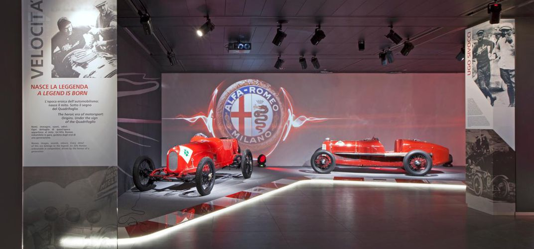 Velocità display at the Alfa Romeo Museum. Credit: Alfa Romeo Museum