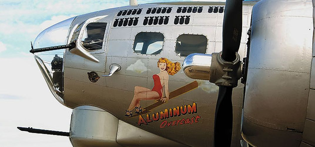 Caption: At the B-17 Co-op