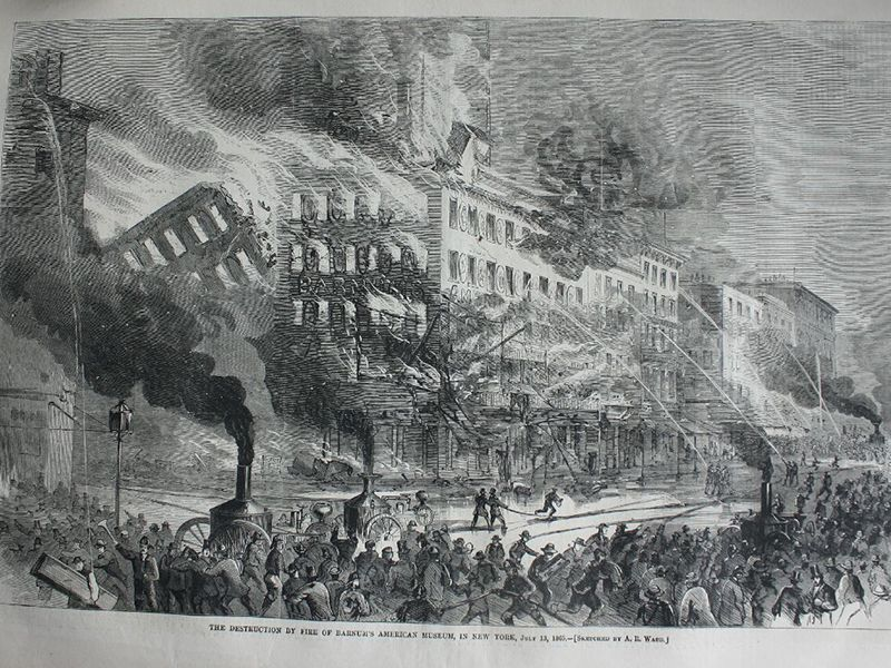 150 years ago a fire in pt barnums museum boiled two whales barnum museum fire stopboris Choice Image