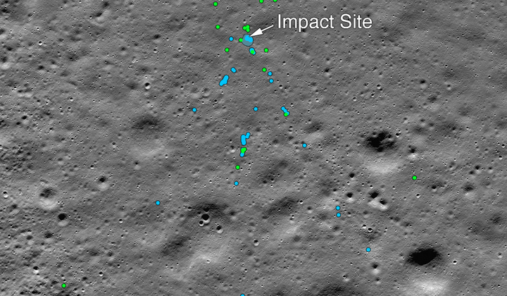Found: India's Moon Lander Crash Site
