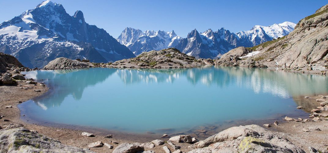 White Lake, amid the Aiguilles Rouges