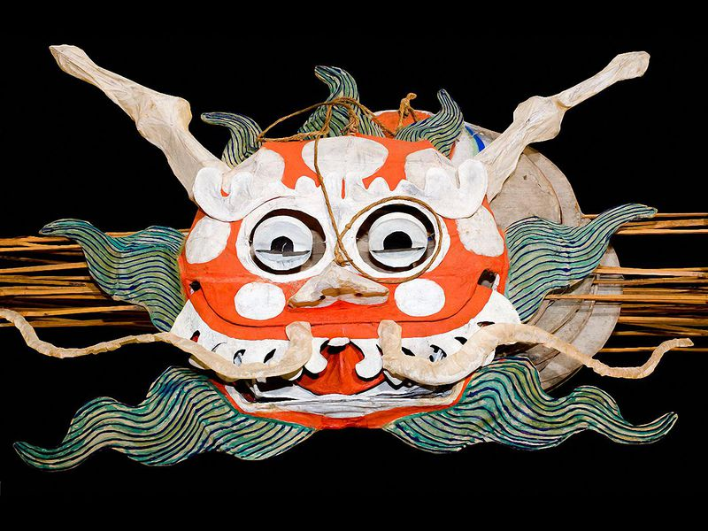 Dragons and fish are traditional subjects for Chinese kite makers.