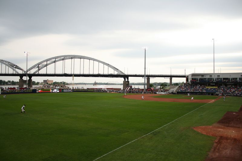 Quad City River Bandits' baseball stadium, Davenport, Iowa.